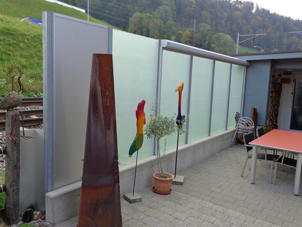 Wind und Sichtschutzwand